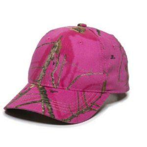 Mossy Oak Ladies Camo Baseball Hat One Size Pink